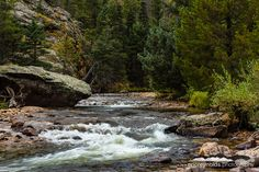 Big Thompson River in Rocky Mountain National Park, Colorado - Print for sale.