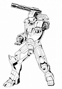 coloriage the avengers iron man - Coloriage Iron Man