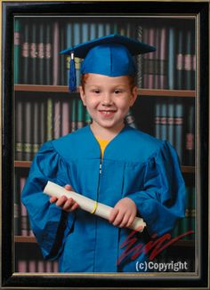 Emma in her cap and gown, preschool graduation | Photos of mine ...