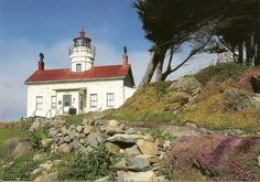 The Battery Point Lighthouse was one of the first lighthouses on the California coast built in 1856. The lighthouse is located on a small island just outside Crescent City's Harbor