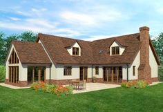 The Hambledene Bungalow Haus Design, Bungalow Style House, Bungalow Homes, Bungalow House Plans, House Design, Chalet Design, Bungalow Renovation, Bungalow Exterior, Style At Home