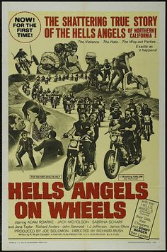 Hell on Wheels: Vintage outlaw biker movie posters   Dangerous Minds