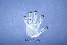 Handprint Calendar ~ very clever hand print calendar idea for January to December! Check it out. FUN idea..