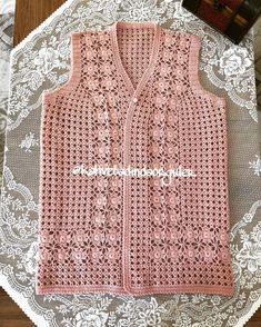 Diy Crafts - Good Morning - happy markets - this vest is like Nermin to Denizli - Her Crochet Gilet Crochet, Crochet Cardigan, Crochet Baby Dress Pattern, Popular Crochet, Vest Pattern, Easy Knitting, Crochet Designs, Crochet Clothes, Sweaters