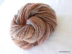 """""""Gaia"""" - soft worsted weight Finn wool/Cashmere 2 ply handspun yarn by EarthMother Designs."""