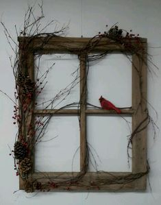 Cute idea decorating old window