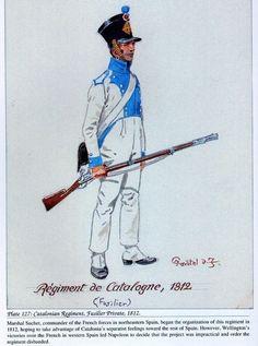 Regimiento Cataluña 1812 Voltigeur Cornet