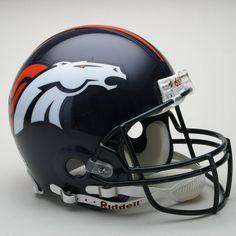 Denver Broncos Helmet Riddell Authentic Full Size VSR4 Style Denver Broncos  Schedule abc618d73b71f