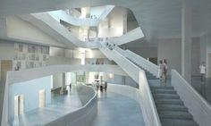 Arts Building for University of Iowa / Steven Holl Architects   Courtesy of Steven Holl Architects