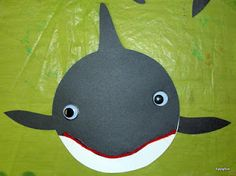 Orca! How simple and so cute! I'd glue it on a water color wash or relief background.