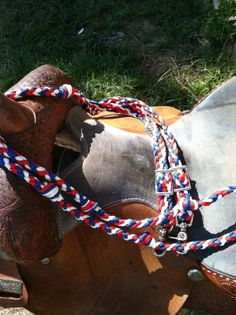 Red white and blue paracord reins idea.