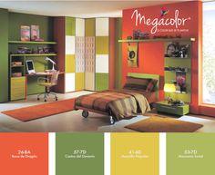 El #color naranja: estimula la mente, renueva la ilusión en la vida y es el perfecto antidepresivo.    El verde: nos crea un sentimiento de confort y relajación, de calma y paz interior, que nos hace sentir equilibrados interiormente.  http://www.prisa.com.mx/megacolor    #ColoresQueCubrenTodo
