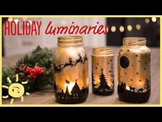 These gorgeous luminaries make the perfect addition to any mantle or table scape and are sure to get you in the holiday spirit! Don't forget to subscribe for...