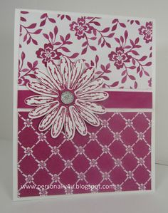 Stampin' Up! Delightful Daisy stamp set in Berry Burst in color - Fresh Florals DSP