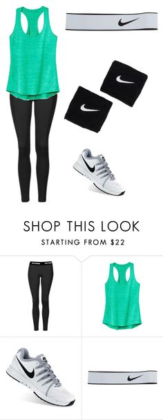 """""""A really terrible athletic outfit bc im not athletic"""" by claire3102 ❤ liked on Polyvore featuring Topshop, Athleta and NIKE"""
