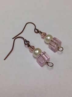 Swarovski Elements & Glass Bead Earrings on Etsy, $11.49