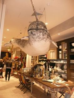 "Person 1: ""What kind of decoration should we hang from the ceiling?""  Person 2: ""A narwhal!""  DONE!!!"