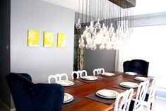 So cool.  Great step by step instructions on how to make this diy dining room light.