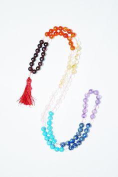Chakra Mala Beads Tibet Buddhist Prayer Mala Necklace