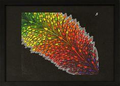 Titre : Déviation. Oeuvre Réalisée au posca ( peinture acrylique ) sur toile de lin blanchi ( œuvre vernie ).  Format ( sans cadre ) : 27,6 cm x 24 cm  Format ( avec cadre ) : 42,9 cm x 32,8 cm x 2,4 cm  Date de réalisation : 2014 #déviation #flèche #art #abstrait #abstract #posca #peinture #painting #tableau #moderne