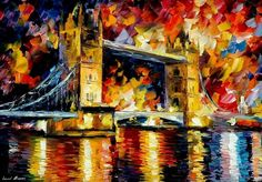 Leonid Afremov High Resolution | LONDON BRIDGE - LEONID AFREMOV by *Leonidafremov on deviantART