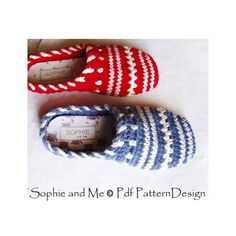 2in1-Pattern-PACK for SWEATER Clog-Slippers por PdfPatternDesign