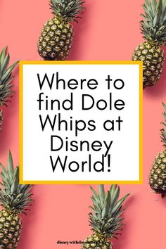 Dole whips: everyone's favorite treat at Walt Disney World! What is a dole whip and where do you get one? Find out here! Best Disney World Restaurants, Disney World Food, Disney World Planning, Walt Disney World Vacations, Disney Travel, Disney World Tips And Tricks, Disney Tips, Disney Crowds, Disney Inspired Food