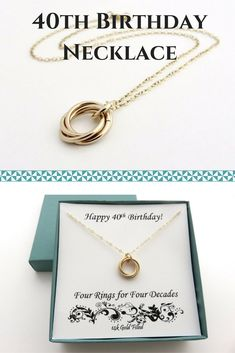 40th Birthday Gift for Women | Gold Filled Necklace Handmade Jewelry by MarciaHDesigns | Birthday Gift Ideas