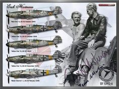 Erich Hartmann was the top scoring fighter pilot of all the combatants in World… Ww2 Aircraft, Fighter Aircraft, Military Aircraft, Luftwaffe, Fighter Pilot, Fighter Jets, Erich Hartmann, Me 109, Flying Ace