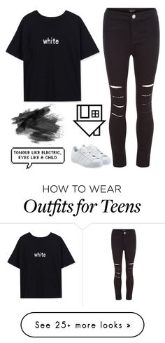 """Untitled #1516"" by chill-outfits on Polyvore featuring WithChic, New Look, adidas Originals and Columbia"