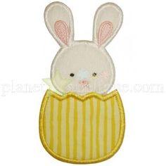 Bunny in Egg Applique