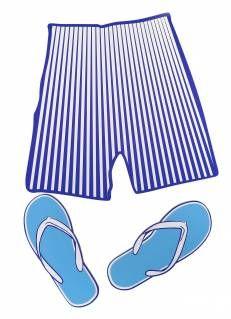 Pantaloncini con infradito (Sagoma)