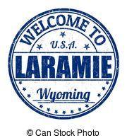 Estampilla, bienvenida,  Laramie Wyoming.