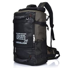 Men Large Capacity Backpack Casual Travel Outdoor Bags Rucksack Climbing Bag is high-quality. Shop on NewChic and buy the best mens backpack for yourself. Men's Backpack, Hiking Backpack, Tactical Backpack, Cool Backpacks For Men, Penguin Brand, Outdoor Backpacks, Canvas Shoulder Bag, Travel Bags, Backpacking