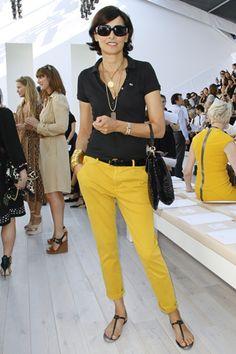 ines de las fressange   Habitually Chic®: Mellow Yellow