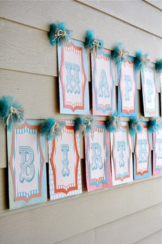 Vintage Circus Party PRINTABLE DIY Birthday Banner