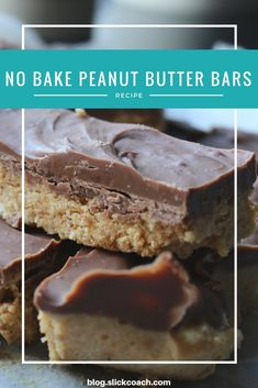 You like peanut butter, right? Duh, of course! Then this recipe is a must for you! #recipe #peanutbutter #recipeoftheday #weightloss #healthy #lifestyle #diet #slimming #nobake #dessert #bar #chocolate