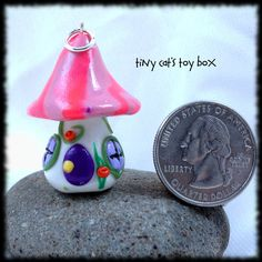 Hand-Crafted Polymer Clay Fairy House Charm    http://www.etsy.com/shop/TinyCatsToyBox