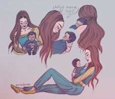 marabarrow // Some Feyre & her son to warm up your hearts. ;)  a gift. all of it.