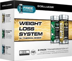 The Cellucor Extreme Weight Loss System with Thermal Shock boasts a comprehensive approach to fat loss that guarantees results and weight loss success. Cellucor's Weight Loss System is comprised of three products synergistically designed to achieve total fat loss: D4 Thermal Shock, T7 Extreme, and WS1 Extreme.