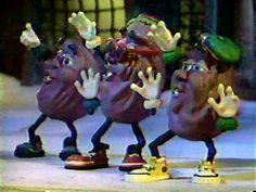 the california raisins. i heard it through the grapevine! =)