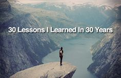 30 lessons learned