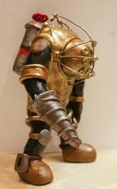 Big Daddy figurine made of polymer clay