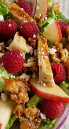 Fresh Raspberry Chicken Salad