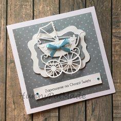 Handmade christening invitation