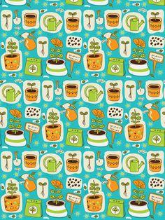 plant_growing2-01 fabric by katja_saburova on Spoonflower - custom fabric
