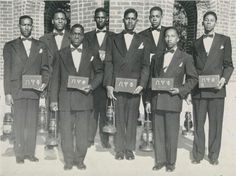 Lampados Club of Omega Psi Phi @ University of Arkansas (Pine Bluff) 1950 Kappa Alpha Psi, Omega Psi Phi, Sorority And Fraternity, Creole People, Black Fraternities, Afro Men, Fraternity Collection, Black History Facts, Men Styles