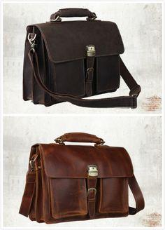 TLMYDD Fashion Computer Handbag Mens Shoulder Messenger Bag Leather Bag Briefcase Color : Black