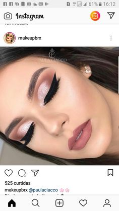 Cute Eye Makeup, Prom Makeup, Wedding Day Makeup, Bride Makeup, Gorgeous Makeup, Pretty Makeup, Diy Makeup, Beauty Makeup, Makeup Tips