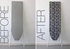 Ironing board before-after